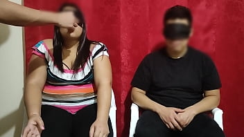 We pay a married couple $ 100 to play the test game, and if you guess what they have in their mouth the girl cheats on him with the game model, they end up fucking part 1/2