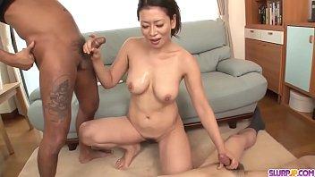 Hot japan girl in double penetration scene