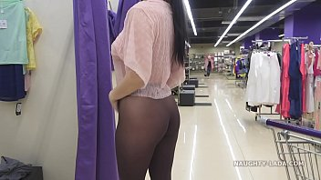 I tried on sheer clothes in front of others in the store