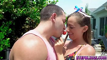 Horny Stepsis rides her pussy on stepbro face and eats her as she rubs! Thumbnail