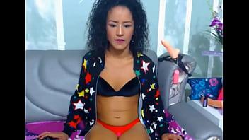 brunette girl, webcam gag