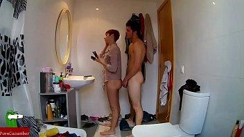 Cute wife fucking in bathroom