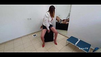 Katya is facesit her slave with office suite and high heels vert sensual