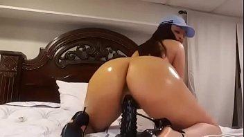 sexy ass riding dildo