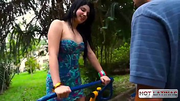 Latin Britney Bitch gets a good assfuck with  Renan Cobra -  -  -