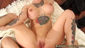 Tattooed pinup anal fucks