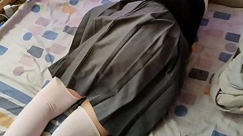 beautiful schoolgirl gives me the ass after class
