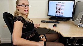 ABIGAIL TOYNE Office Girl Caught SD