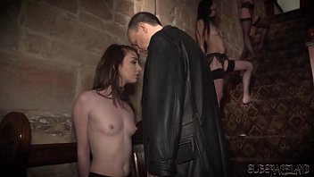 Bondage and bdsm sex play for four slaves fucked by master