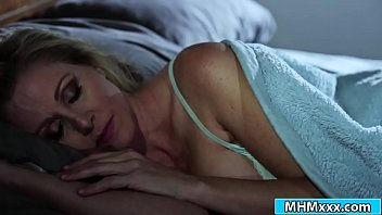 Spooky stepdaughter Aidra Fox creeps up on her stepmom Julia Ann at night.She herself up to her n starts kissing her.After the first shock Julias turned on and lick her dirty stepdaughter.She deep fingers her before Adria makes her stepmom cum