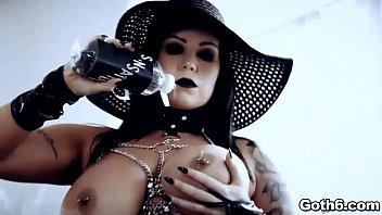 Busty goth babe craves for a meaty dick