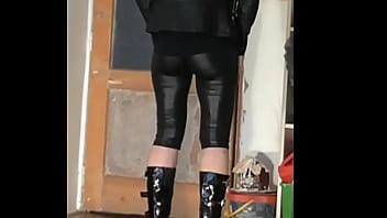 leggings black latex