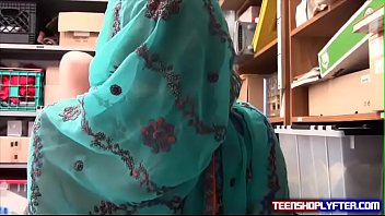Muslim thief girl fucked in back office