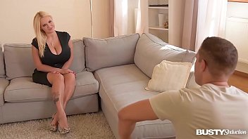 Busty seduction with big round boobs Dolly Fox finger bangs her wet cunny for cam