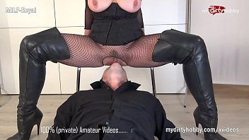 My DirtyHobby - Step Mom Milf Royal teaches step son the dominatrix and mistress way of doing things
