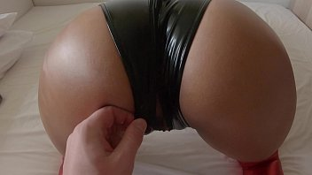 Amazing Ass in Latex Footjob and Sex