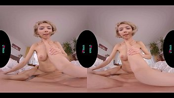 Petite blonde with big tits gets ass fucked in virtual reality