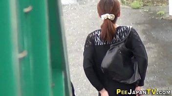 Japan babes piss outdoors