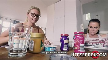 German babe Tatjana Young fucked hard in the kitchen