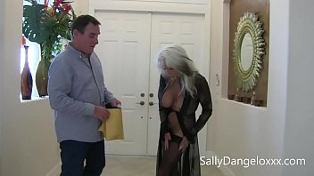 Average Joe gets fucked while buying lingerie from store clerk  Sally D'angelo