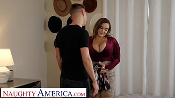 Naughty America - Natasha Nice rides dick cowgirl style