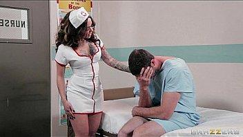 Nurse at a sperm donor clinic helps her patient reach orgasm