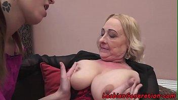 y. MILF and old granny lesbian masturbation