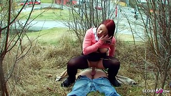Redhead Big Tits Street Hooker Public Fuck by Client directy Outdoor in City