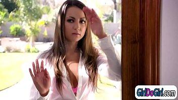 Hot assistant teacher Kristen Scott licks her student Lily Adams