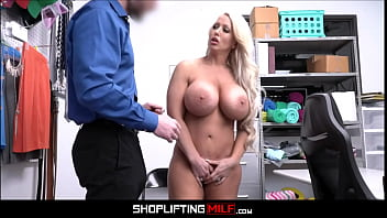 Big Tits Big Ass Juicy Blonde Hot MILF Caught Shoplifting Sex With Officer After Deal Is Made