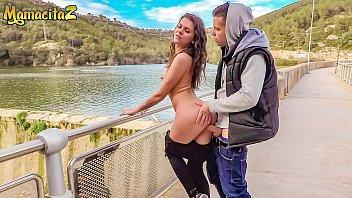 MAMACITAZ - Young Big Cock Guy Fucks Outdoor With A Sexy Eastern Europe MILF - Verona Sky