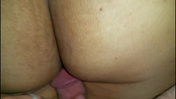 Cute Latina Lady's Big Ass and Hairy Cunt Caught Naked