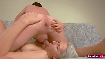 Guy, Girl and Banana. Extreme crazy amateurs couple! Rimjob. blowjob, swallow!