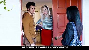 Black Valley Girls - Thick BlackTeen (Maya Bijou) Sucks Her Neighbours Cock