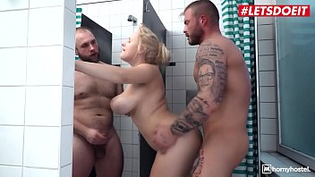 LETSDOEIT - Big Tits MILF Angel Wicky Takes Two Cocks After Shower