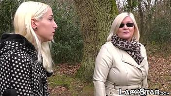 Lesbian GILF fucking a hot young blonde