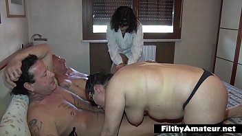 BBW nurse with need of cock in amateur orgy