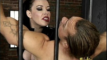 Stunning raven-haired dominatrix Anastasia Pierce enjoys having kinky fun with her slave