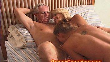 Grandma with hairy pussy fucking