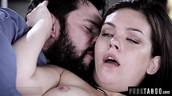 Pervert Stepdad Likes in When His Step-Teen Stretches Her Butthole