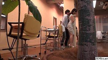JAV Mizuna Wakatsuki hair salon covert blowjob and fingering Subtitles