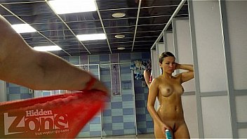 Nude ladies getting off on a dildo