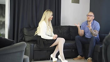 Tricky Boss fuck new Secretary during interview