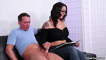 Jason would do anything to get a job. This includes getting a handjob and jerked off by hos boss Misty.
