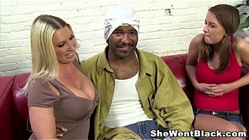 Black dick double blowjob