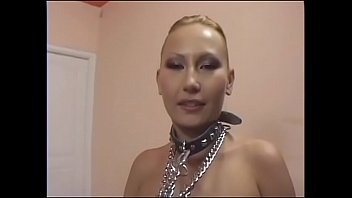 Young perverted student Cheyenne with perky small tits enjoys being nailed in dog collar
