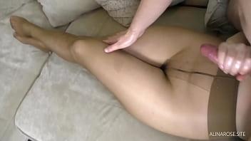 Kink Handjob in Pantyhose - Foot Fetish