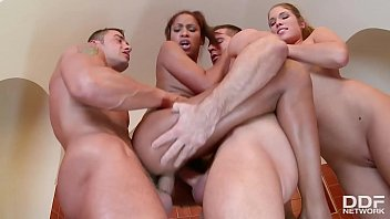 The group sex action is non-stop