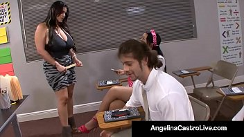 Cuban Queen Angelina Castro Is A Teacher who enjoys scolding naughty school girls & makes them masturbate other students in class! Full Video & Angelina Castro Live @ AngelinaCastroLive.com!