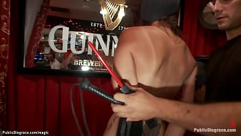 Natural big boobs brunette beauty Alexia Rae is tied by dominatrix Princess Donna Dolore then anal fucked by big cock Ramon Nomar in public bar